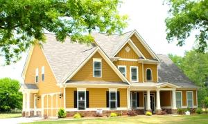 輸入住宅黄色の家