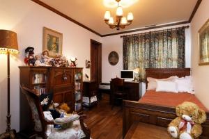 輸入住宅レンガの家寝室2