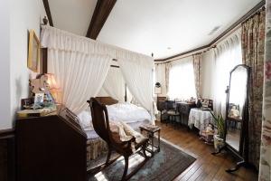 輸入住宅レンガの家寝室